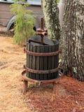 Le vieux vin enfoncent le pays d'établissement vinicole Image libre de droits