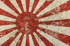 Le vieux vintage grunge s'est fané drapeau du Japon Nippon Images libres de droits