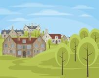 Le village anglais illustration libre de droits