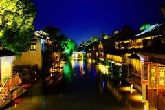 Le village antique chinois de Wuzhen photo stock