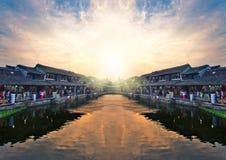 Le village antique de la Chine Images libres de droits