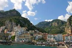 Le village d'Amalfi Images stock