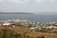 Le village d'Ancud loge - île de Chiloe - le Chili images stock