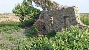 Le village d'otarie village ruiné par 2 d'otarie d'opération Image libre de droits