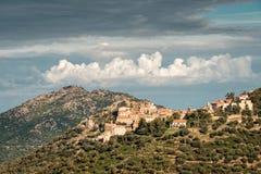 Le village de Belgodere dans la région de Balagne de la Corse images libres de droits
