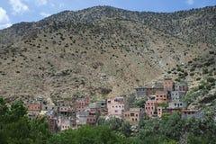 Le village de Berber de Setti Fatma, montagnes d'atlas, Maroc images libres de droits
