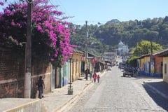 Le village de Conception de Ataco sur le Salvador Images stock