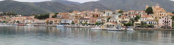 Le village de Galaxidi Photos libres de droits