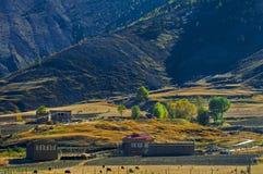 Le village de montagne Image stock