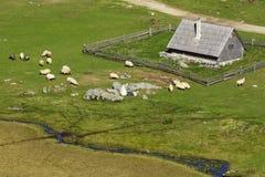 Le village de montagne, Vranica Photos libres de droits