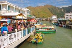 Le village de pêche de Tai O est une destination de touristes populaire Photos libres de droits