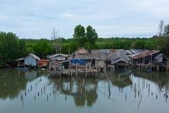 le village de pêche de la Thaïlande Image stock