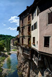 View of the town of Pont-en-Royans - Isere (France) Royalty Free Stock Photo