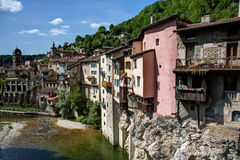View of the town of Pont-en-Royans - Isere (France) Stock Image