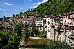 View of the town of Pont-en-Royans - Isere (France) Royalty Free Stock Photography