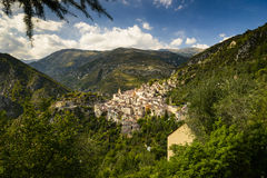 Le village de Saorge, Alpes-Maritimes, Provence Image libre de droits