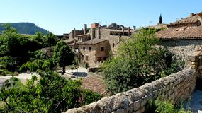 Le village de Siurana Photo libre de droits