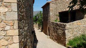 Le village de Siurana Images libres de droits