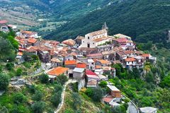 Le village de Staiti dans la province du Reggio de Calabre, Italie photos stock