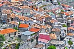Le village de Staiti dans la province du Reggio de Calabre, Italie images stock