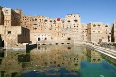 Le village de Thula sur le Yémen Photographie stock libre de droits