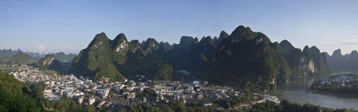 Le village de xingping, province de Guangxi Photos libres de droits