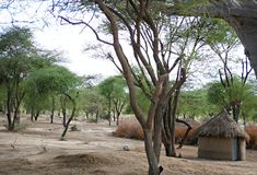 Le village des masses sur le safari de Tarangiri - Ngorongoro dans Afric photo stock