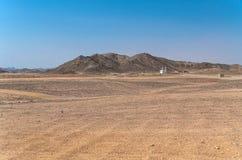 Le village et la structure des bédouins dans le désert Photos stock