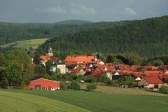 Le village Herleshausen Photographie stock libre de droits