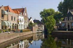 Le village hollandais de Spaarndam Images libres de droits