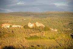 Le village médiéval de Tignano, chianti, Toscane image libre de droits