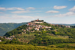 Le village Motovun photos libres de droits