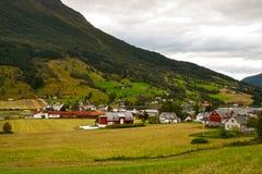 Le village norvégien Images libres de droits