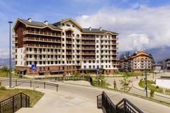 Le village olympique de montagne Photographie stock libre de droits