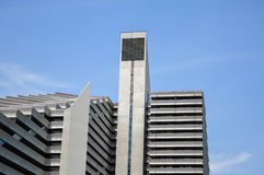 Le village olympique est un structur de jumeau-tour Photo libre de droits