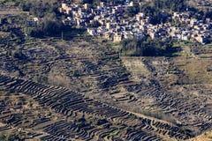 Le village, riz met en place, des terrasses de paddy dans la province de Yunnan Chine image stock