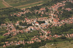 Le village vu d'en haut Images stock