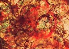 Le vin et le sang ont souillé le vieux fond de papier de texture usée grunge illustration de vecteur