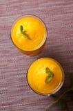 Le vin mousseux et le jus d'orange avec de la glace boivent Photos stock