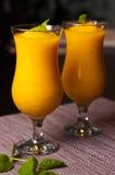 Le vin mousseux et le jus d'orange avec de la glace boivent Image libre de droits