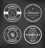Le vintage Badges des éléments Photo libre de droits