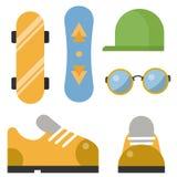Le vintage a dénommé l'élément d'instruments de calibres de signes et de symboles de vecteur d'icônes de hippie de conception et  illustration de vecteur