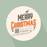 Le vintage a dénommé la carte de Noël illustration de vecteur
