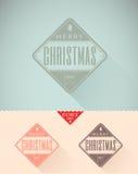 Le vintage a dénommé la carte de Noël - ensemble de calligraphi illustration libre de droits