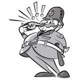 Le vintage a dénommé le policier avec un sifflement illustration stock