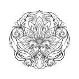 Le vintage d'ensemble fleurit le bouquet ou le modèle illustration de vecteur