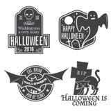 Le vintage de Halloween badges, des emblèmes ou des labels Photographie stock libre de droits