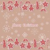 Le vintage de Joyeux Noël et de bonne année cardent la copie typographique Photos libres de droits