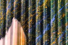 Le vintage de scintillement allume le fond or, Image stock