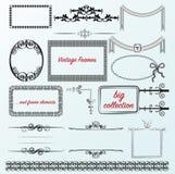 Le vintage encadre les frontières calligraphiques de collection Image stock